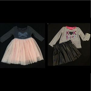 Toddler Girl 3T Tutu Dress and Two Piece Outfit
